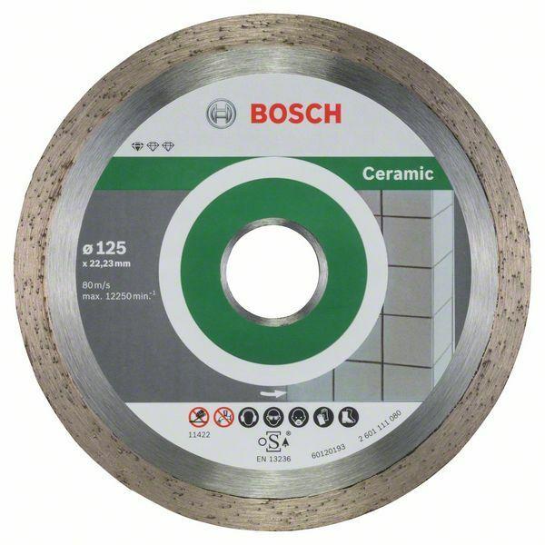 Diamantový dělicí kotouč Standard for Ceramic - 125 x 22,23 x 1,6 x 7 mm - 3165140665742 BOSCH