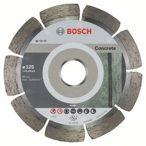 Diamantový dělicí kotouč Standard for Concrete - 125 x 22,23 x 1,6 x 10 mm BOSCH