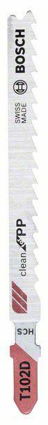 Pilový plátek do kmitací pily T 102 D - Clean for PP (Balení 10 ks) BOSCH