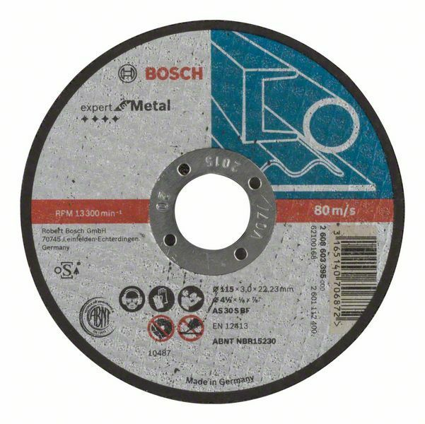 Dělicí kotouč rovný Expert for Metal - AS 30 S BF, 115 mm, 3,0 mm - 3165140706872 BOSCH
