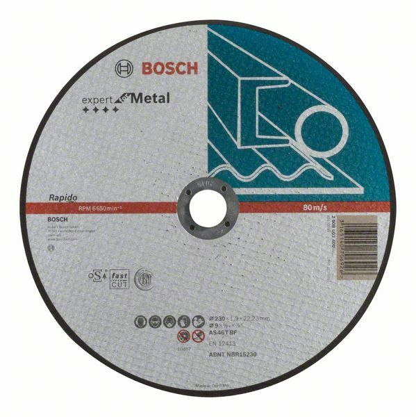 Dělicí kotouč rovný Expert for Metal – Rapido - AS 46 T BF, 230 mm, 1,9 mm - 3165140706926 BOSCH