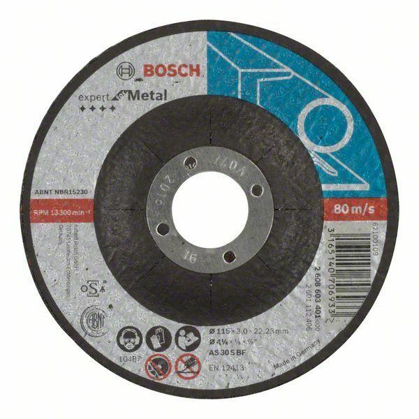 Dělicí kotouč profilovaný Expert for Metal - AS 30 S BF, 115 mm, 3,0 mm - 3165140706933 BOSCH