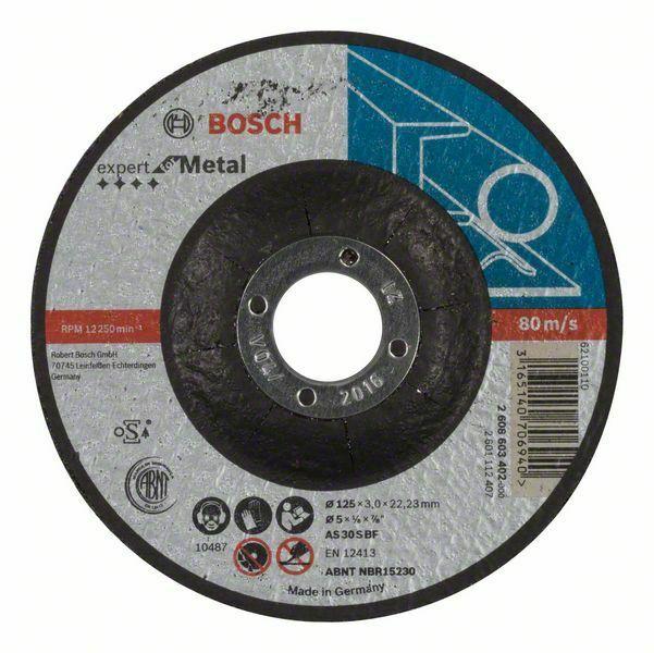 Dělicí kotouč profilovaný Expert for Metal - AS 30 S BF, 125 mm, 3,0 mm - 3165140706940 BOSCH