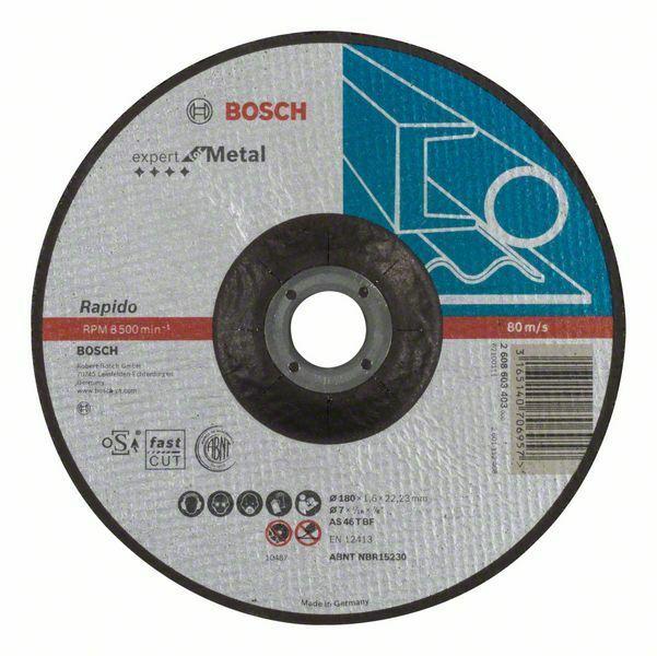 Dělicí kotouč profilovaný Expert for Metal – Rapido - AS 46 T BF, 180 mm, 1,6 mm - 3165140 BOSCH
