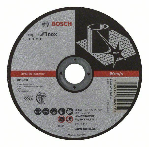 Dělicí kotouč rovný Expert for Inox - AS 46 T INOX BF, 150 mm, 1,6 mm - 3165140706971 BOSCH