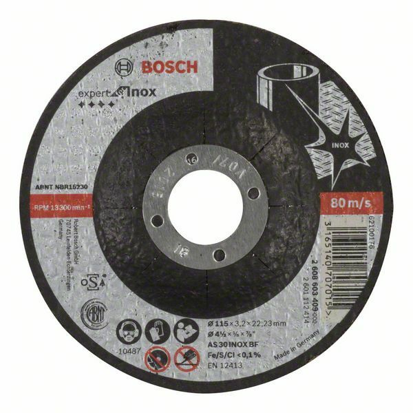 Dělicí kotouč profilovaný Expert for Inox - AS 30 S INOX BF, 115 mm, 3,2 mm - 316514070701 BOSCH