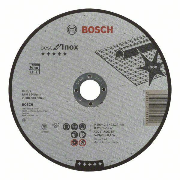 Dělicí kotouč rovný Best for Inox - A 30 V INOX BF, 180 mm, 2,5 mm - 3165140733588 BOSCH