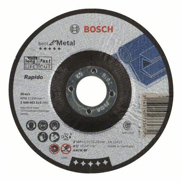 Dělicí kotouč profilovaný Best for Metal – Rapido - A 60 W BF, 125 mm, 1,0 mm - 3165140733 BOSCH