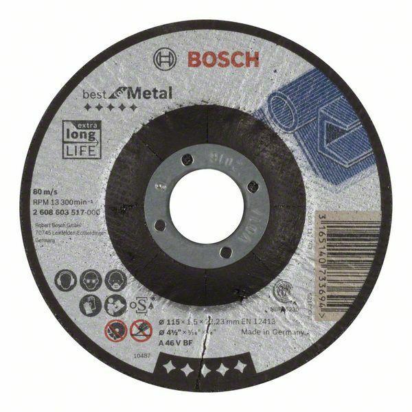 Dělicí kotouč profilovaný Best for Metal - A 46 V BF, 115 mm, 1,5 mm - 3165140733694 BOSCH