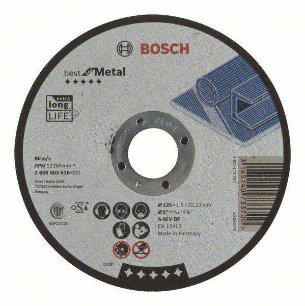 Dělicí kotouč rovný Best for Metal - A 46 V BF, 125 mm, 1,5 mm - 3165140733700 BOSCH