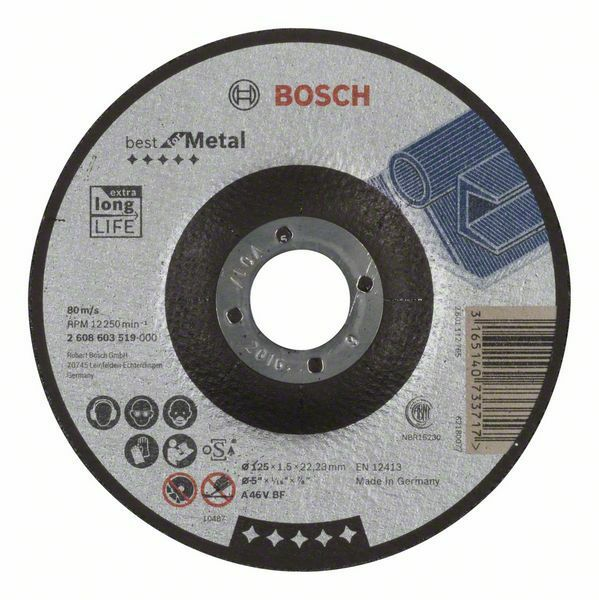 Dělicí kotouč profilovaný Best for Metal - A 46 V BF, 125 mm, 1,5 mm - 3165140733717 BOSCH