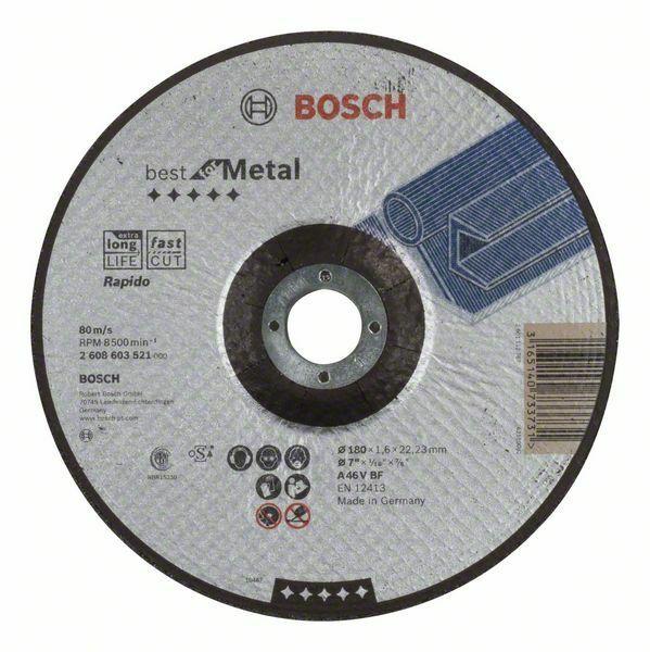 Dělicí kotouč profilovaný Best for Metal – Rapido - A 46 V BF, 180 mm, 1,6 mm - 3165140733 BOSCH