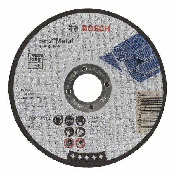 Dělicí kotouč rovný Best for Metal - A 30 V BF, 125 mm, 2,5 mm - 3165140733786 BOSCH