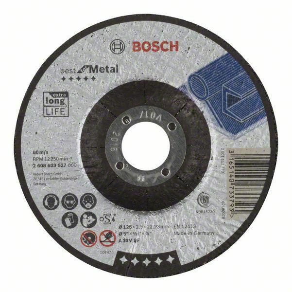 Dělicí kotouč profilovaný Best for Metal - A 30 V BF, 125 mm, 2,5 mm - 3165140733793 BOSCH