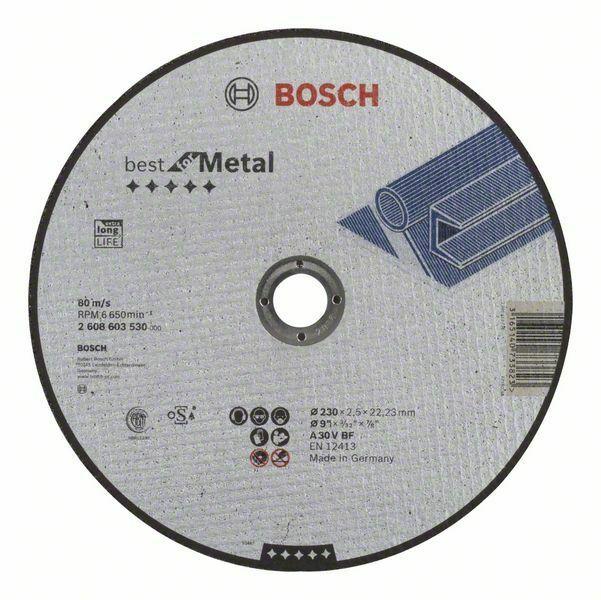 Dělicí kotouč rovný Best for Metal - A 30 V BF, 230 mm, 2,5 mm - 3165140733823 BOSCH