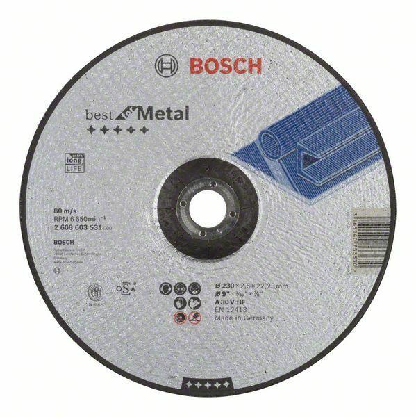 Dělicí kotouč profilovaný Best for Metal - A 30 V BF, 230 mm, 2,5 mm - 3165140733830 BOSCH