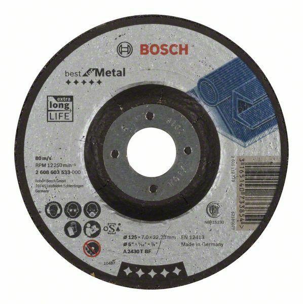 Hrubovací kotouč profilovaný Best for Metal - A 2430 T BF, 125 mm, 7,0 mm - 3165140733854 BOSCH