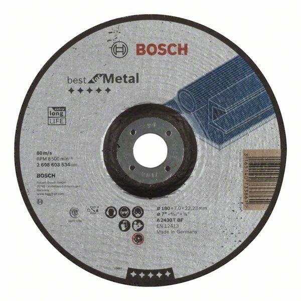 Hrubovací kotouč profilovaný Best for Metal - A 2430 T BF, 180 mm, 7,0 mm - 3165140733861 BOSCH