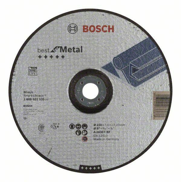 Hrubovací kotouč profilovaný Best for Metal - A 2430 T BF, 230 mm, 7,0 mm - 3165140733878 BOSCH