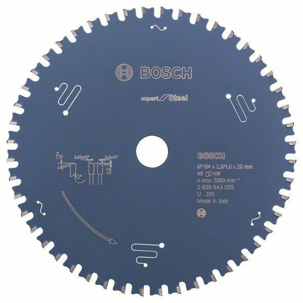 Pilový kotouč do okružních pil Expert for Steel - 184 x 20 x 2,0 mm, 48 BOSCH
