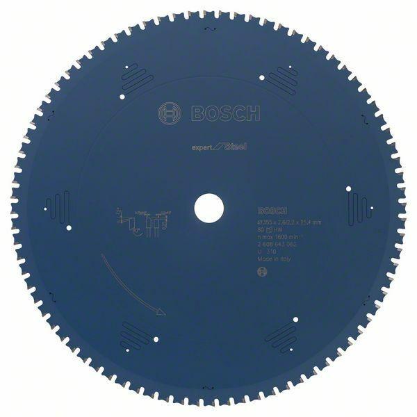 Pilový kotouč do okružních pil Expert for Steel - 355 x 25,4 x 2,2 mm, 80 BOSCH