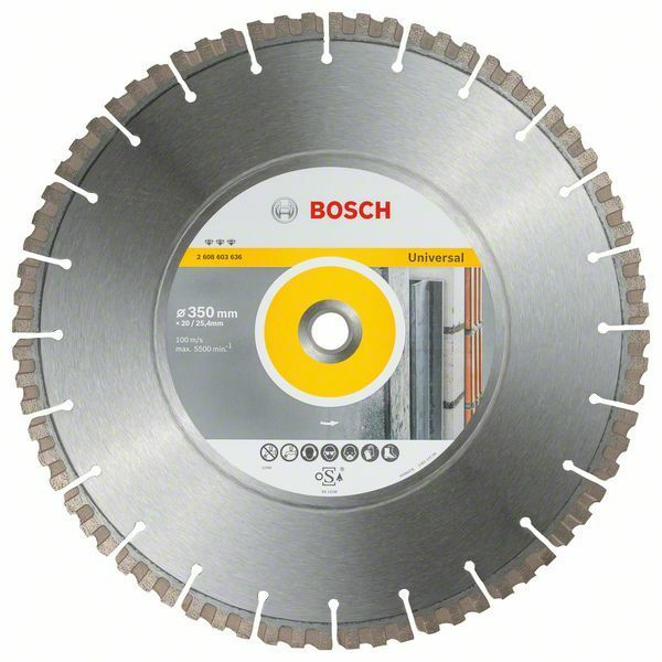 Diamantový dělicí kotouč Best for Universal - 350 x 20/25,40 x 3,3 x 15 mm - 3165140739689 BOSCH