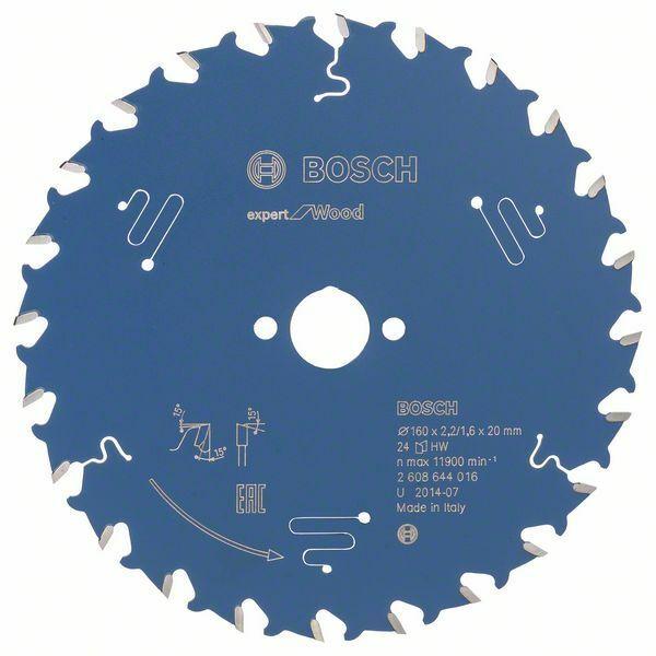 Pilový kotouč Expert for Wood; 160 x 20 x 2,2 mm, 24 - 3165140795821 BOSCH