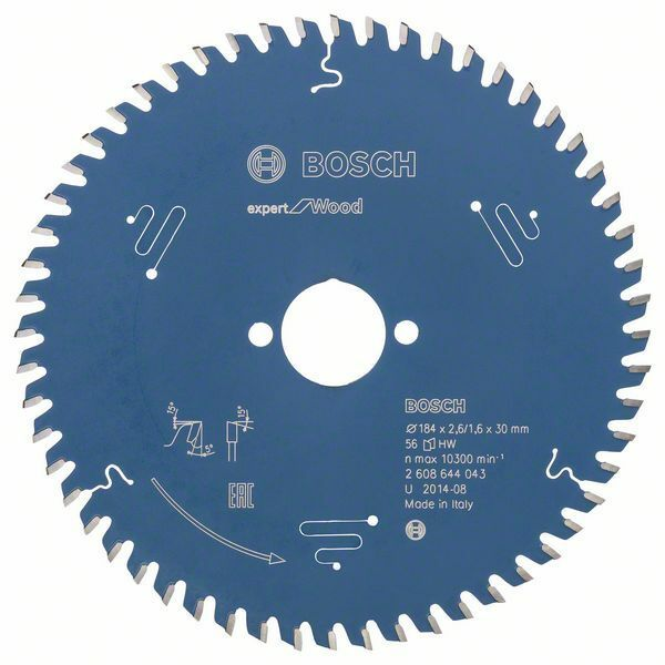 Pilový kotouč Expert for Wood; 184 x 30 x 2,6 mm, 56 - 3165140796095 BOSCH