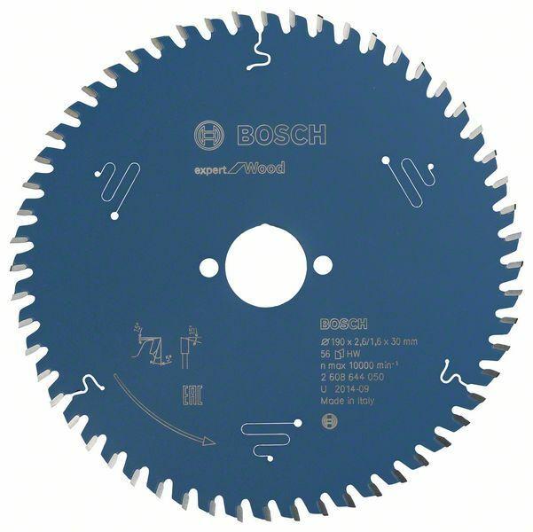Pilový kotouč Expert for Wood; 190 x 30 x 2,6 mm, 56 - 3165140796163 BOSCH