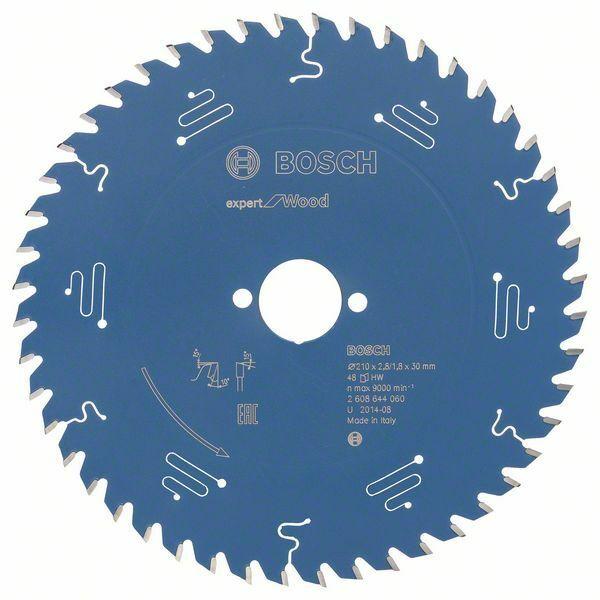 Pilový kotouč Expert for Wood; 210 x 30 x 2,8 mm, 48 - 3165140796262 BOSCH