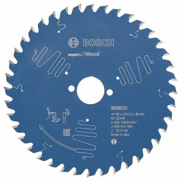 Pilový kotouč Expert for Wood; 190 x 30 x 2,0 mm, 40 BOSCH