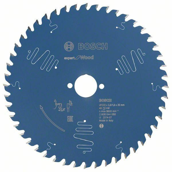 Pilový kotouč Expert for Wood; 220 x 30 x 2,6 mm, 48 - 3165140796545 BOSCH