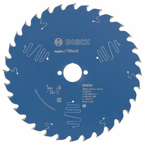 Pilový kotouč Expert for Wood; 225 x 30 x 2,6 mm, 32 - 3165140796552 BOSCH