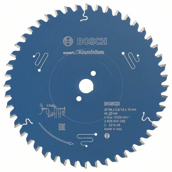 Pilový kotouč Expert for Aluminium; 184 x 16 x 2,6 mm, 48 - 3165140796644 BOSCH