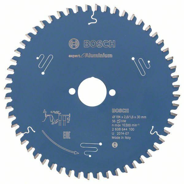 Pilový kotouč Expert for Aluminium; 184 x 30 x 2,6 mm, 56 - 3165140796668 BOSCH