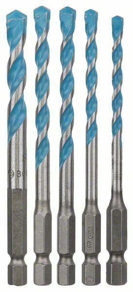 5dílná sada víceúčelových vrtáků HEX-9 Multi Construction - 4; 5; 6; 6; 8 mm - 31651408002 BOSCH