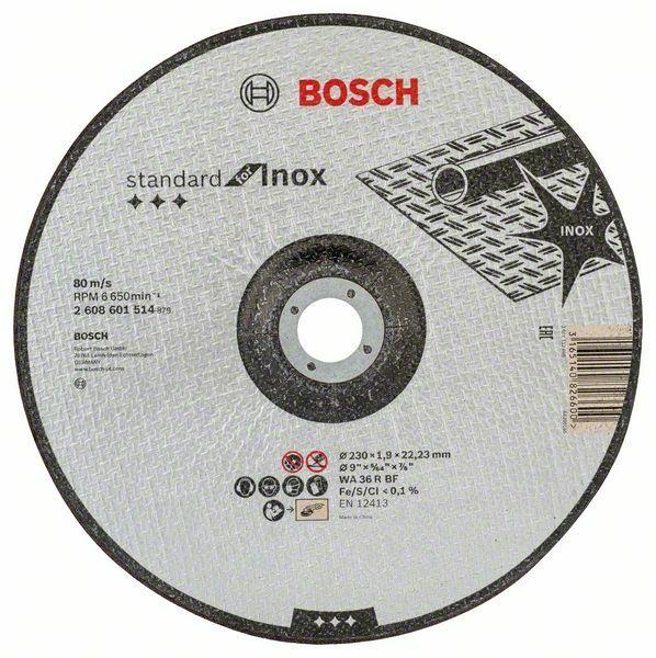 Řezný kotouč Standard for INOX; 230x1,9mm, prolomený BOSCH