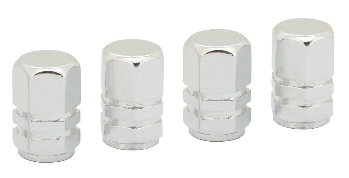 Ozdobné kryty ventilků stříbrné COMPASS