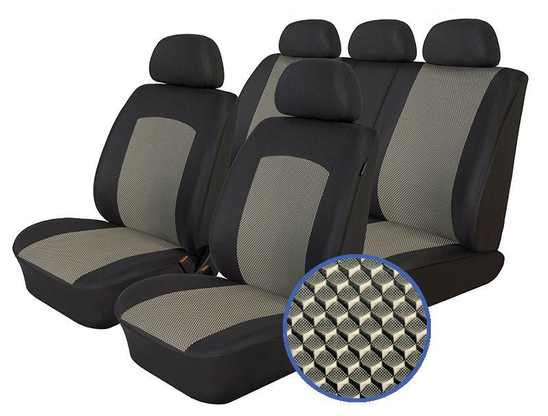 Autopotahy KIA CARENS IV, od r. 2013, 5 míst, Dynamic šedé SIXTOL