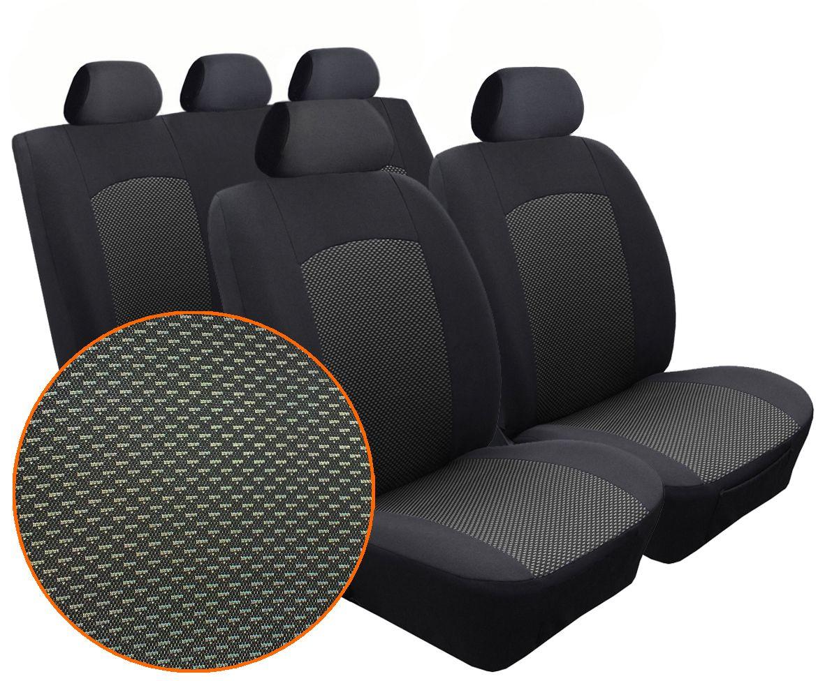 Autopotahy PEUGEOT 206, nedělené opěradlo a sedadlo, od r. 1998, Dynamic žakar tmavý SIXTOL