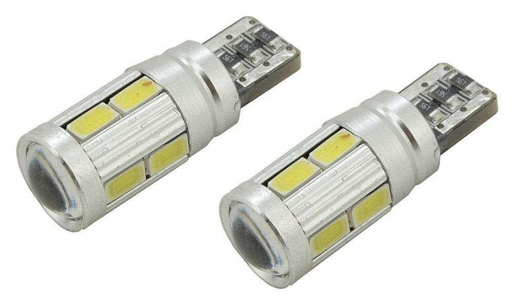 Žárovka 10 SMD LED 3chips 12V T10 CAN-BUS ready bílá 2ks, COMPASS