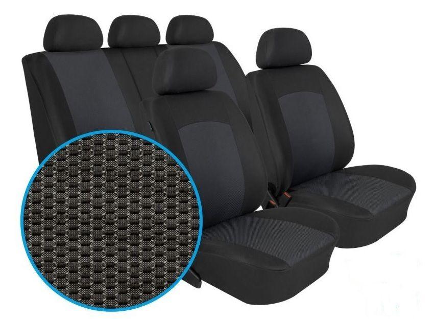 Autopotahy Škoda Rapid, dělené opěradlo, bez zadní loketní opěrky, Dynamic grafit SIXTOL