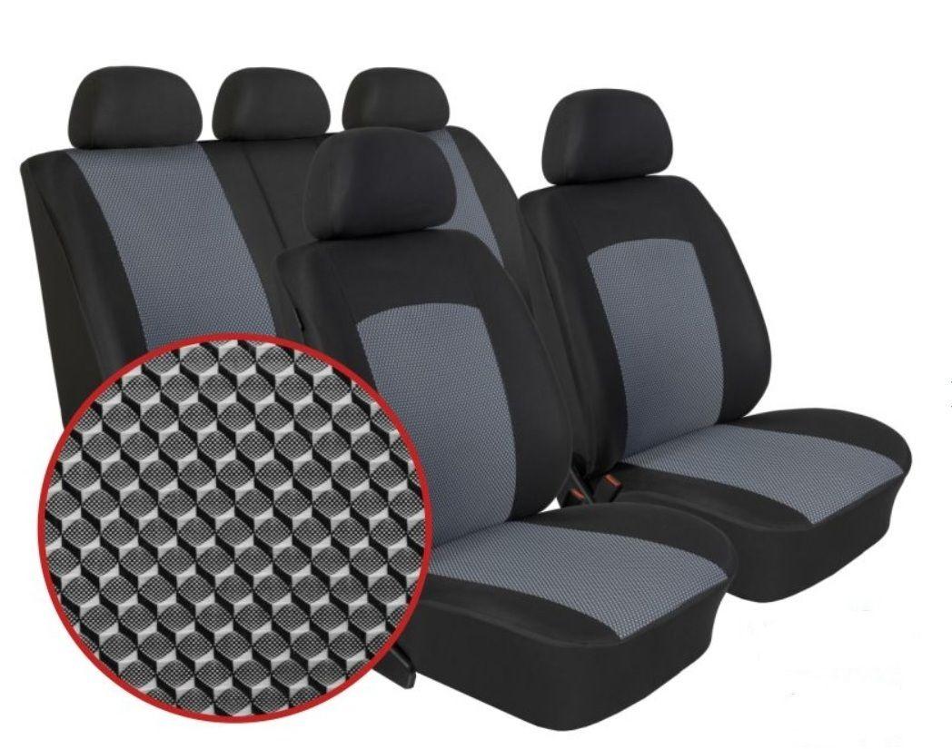 Autopotahy Škoda Rapid, dělené opěradlo, bez zadní loketní opěrky, Dynamic šedé SIXTOL