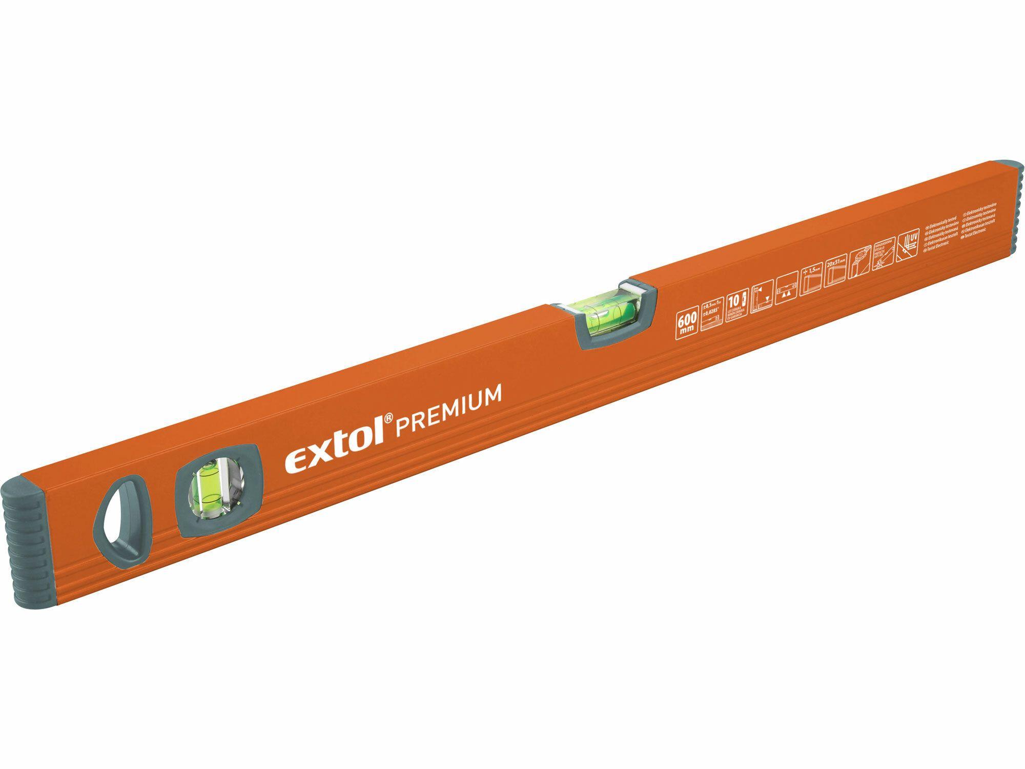 Vodováha, 600mm, EXTOL PREMIUM