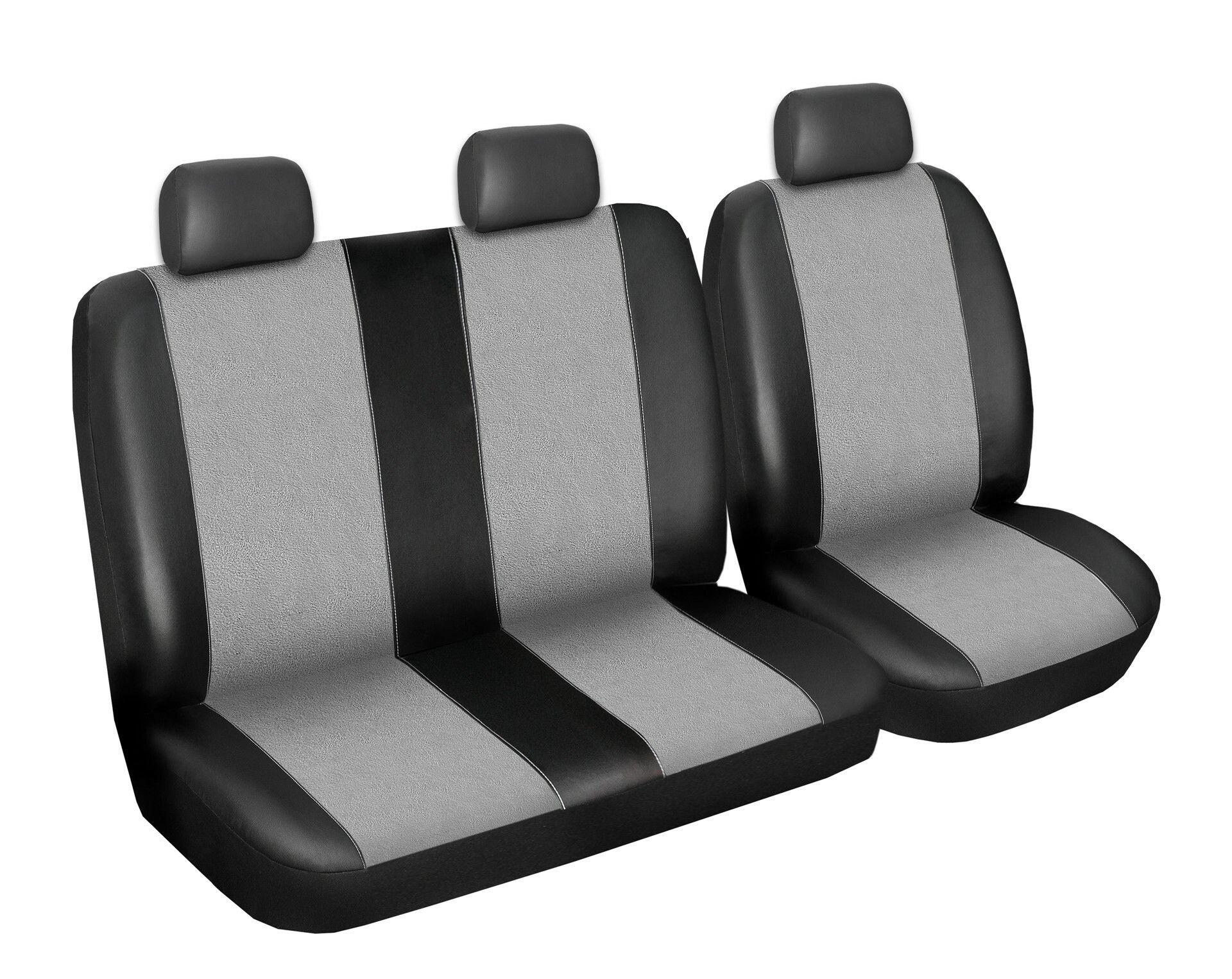 Autopotahy Volkswagen LT, 3 místný, do r. 2006, Eco kůže + alcantara šedé SIXTOL