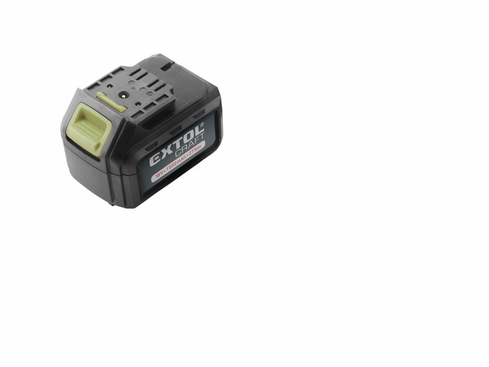 Baterie akumulátorová 18V, Li-ion, 1500mAh, EXTOL CRAFT