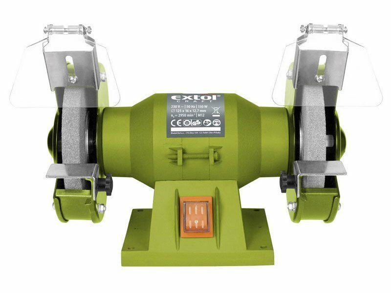 Bruska stolní dvoukotoučová, 150W, 125x12,7x š.16mm EXTOL-CRAFT