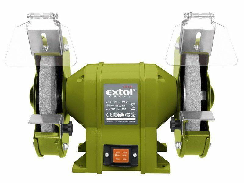 Bruska stolní dvoukotoučová, 350W, 200x16x š.20mm EXTOL-CRAFT