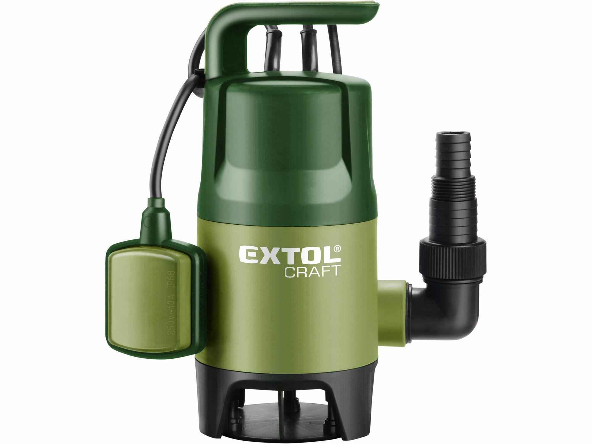 Čerpadlo na znečištěnou vodu, 400W, 7500l/hod, 10m EXTOL-CRAFT