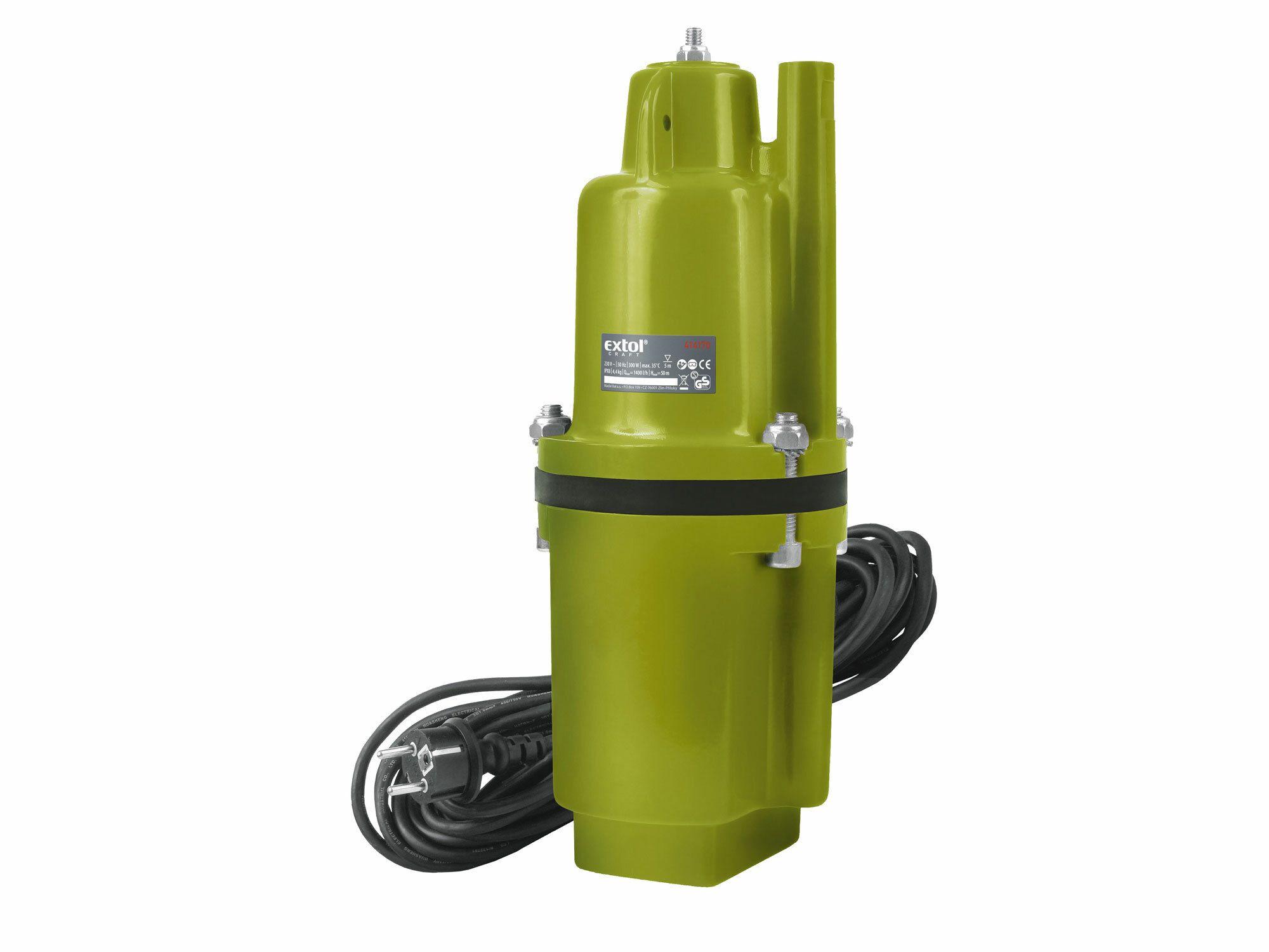 Čerpadlo membránové hlubinné ponorné, 300W, 1400l/hod, 10m EXTOL-CRAFT